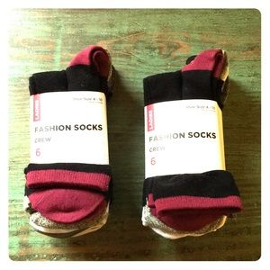 🧦 SEARS Fashion Crew Socks *Price Firm*